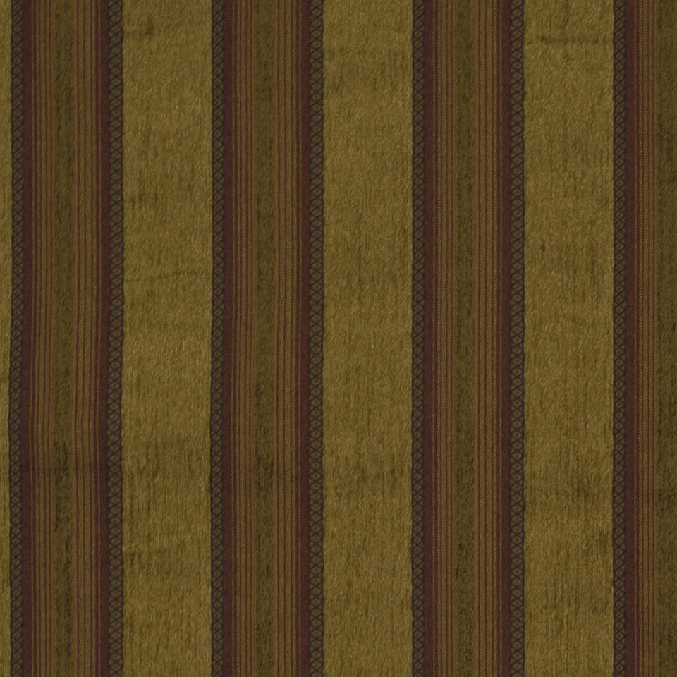 CORPORATE BINDER: PERFORMANCE/FINISHES DECORATIVE/UPH SOLIDS AND TEXTURES/ECO I Central Stripe Fabric - Topaz