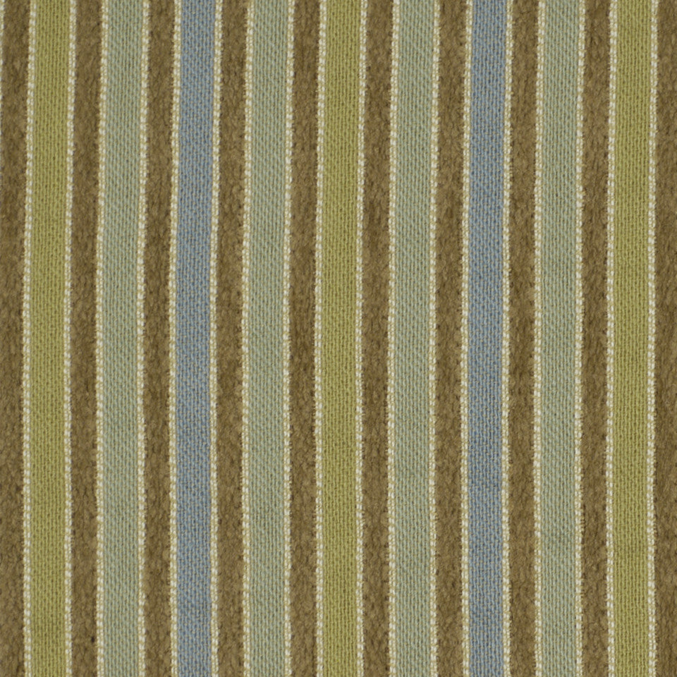 CORPORATE BINDER: PERFORMANCE/FINISHES DECORATIVE/UPH SOLIDS AND TEXTURES/ECO I Durinda Stripe Fabric - Beachglass