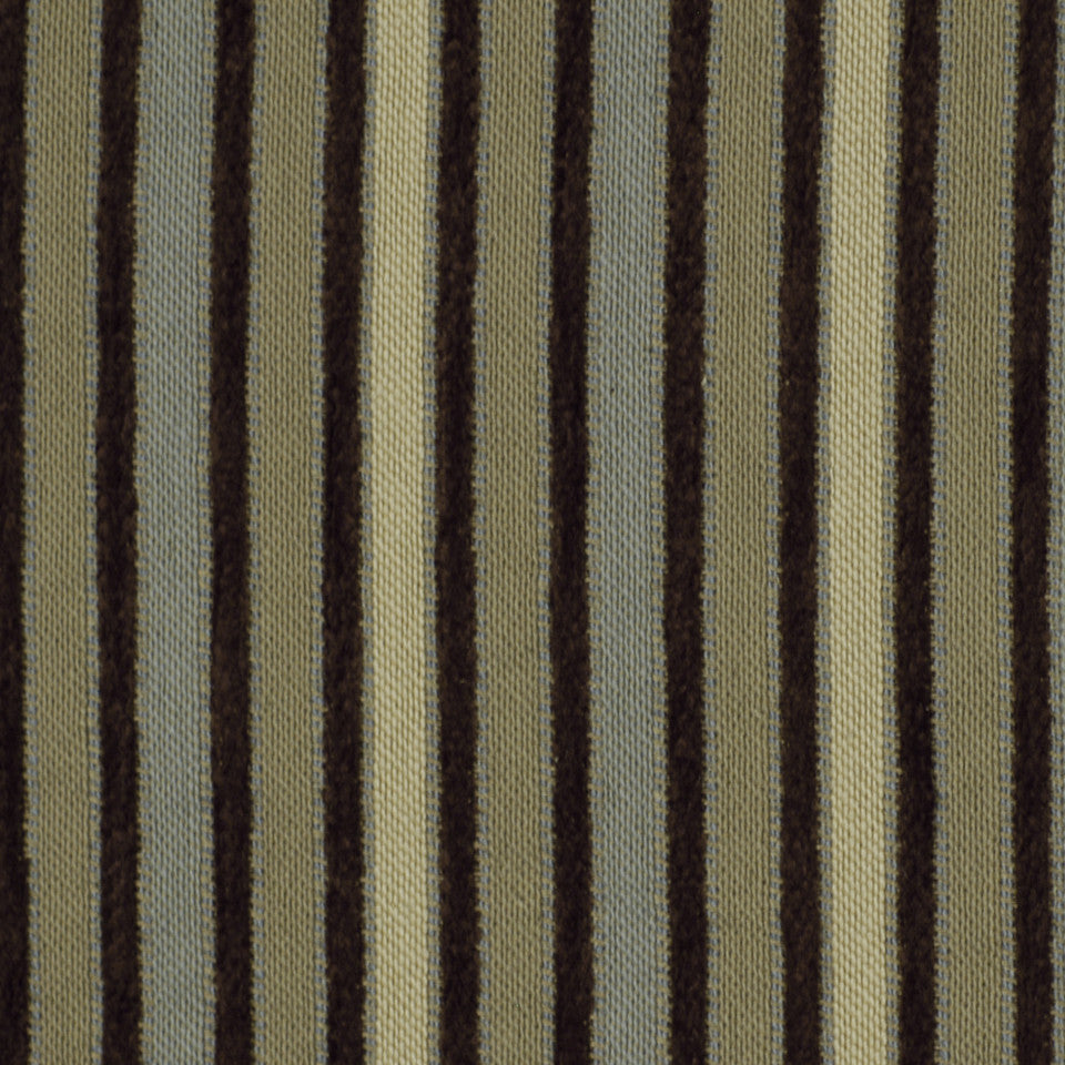 CORPORATE BINDER: PERFORMANCE/FINISHES DECORATIVE/UPH SOLIDS AND TEXTURES/ECO I Durinda Stripe Fabric - Fossil