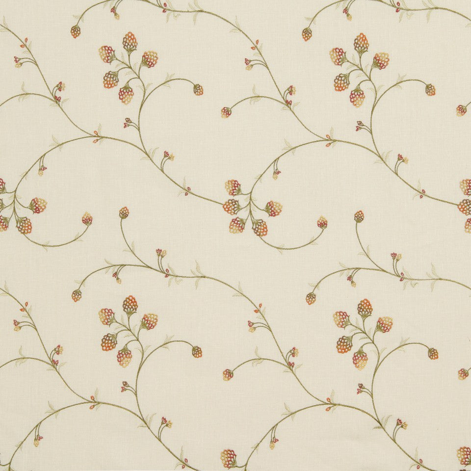 EMBELLISHED NATURALS WARM Floral Sway Fabric - Sedona