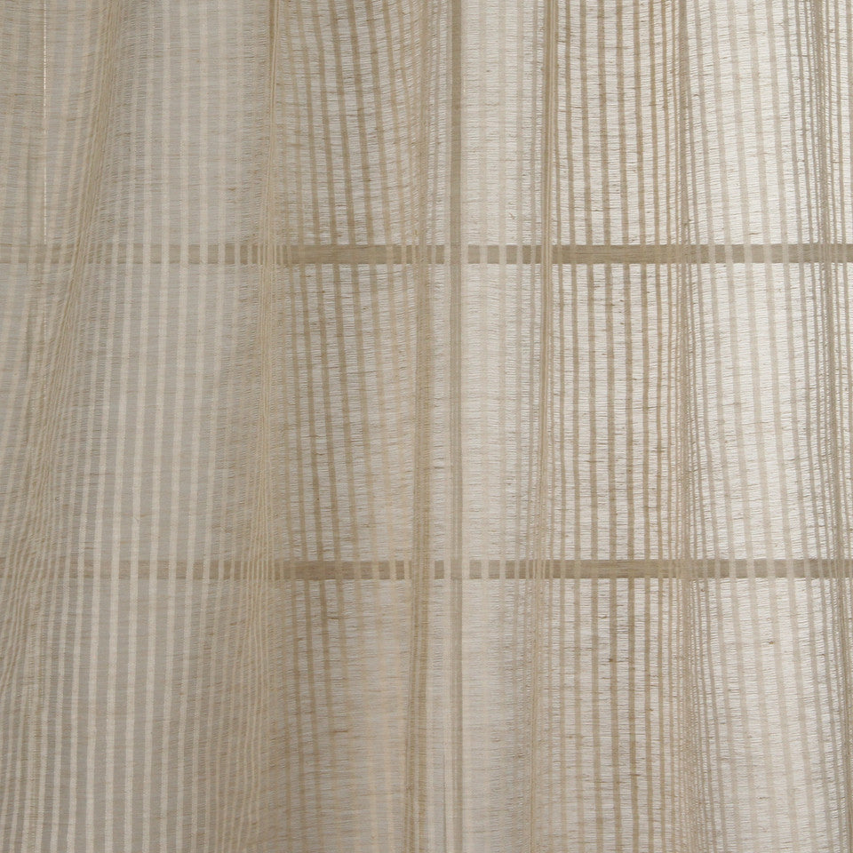 NATURAL SHEERS LIGHT NEUTRALS Seacrest Way Fabric - Parchment
