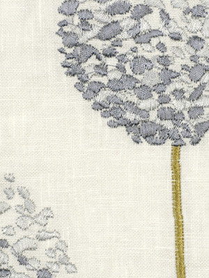EMBELLISHED NATURALS COOL Topiary Ball Fabric - Sky