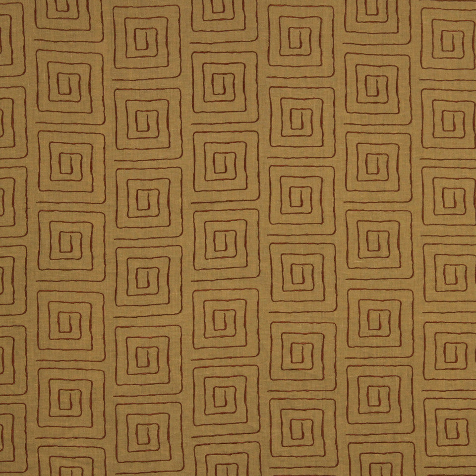 SAFFRON-AUBURN-SIENNA Amazing Race Fabric - Sunset