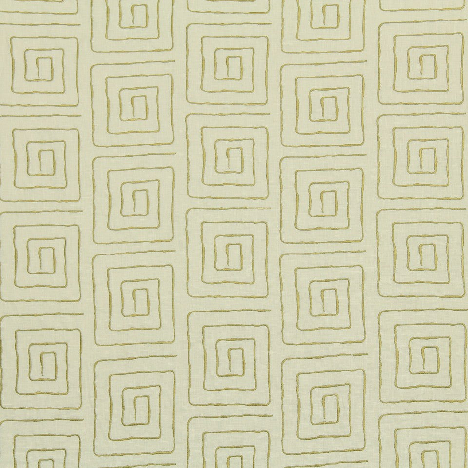 EMBELLISHED NATURALS COOL Amazing Race Fabric - Kiwi