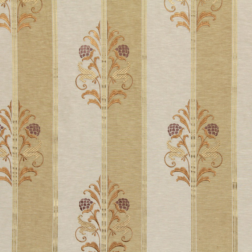 EMBELLISHED NATURALS WARM Cabot Park Fabric - Ginger