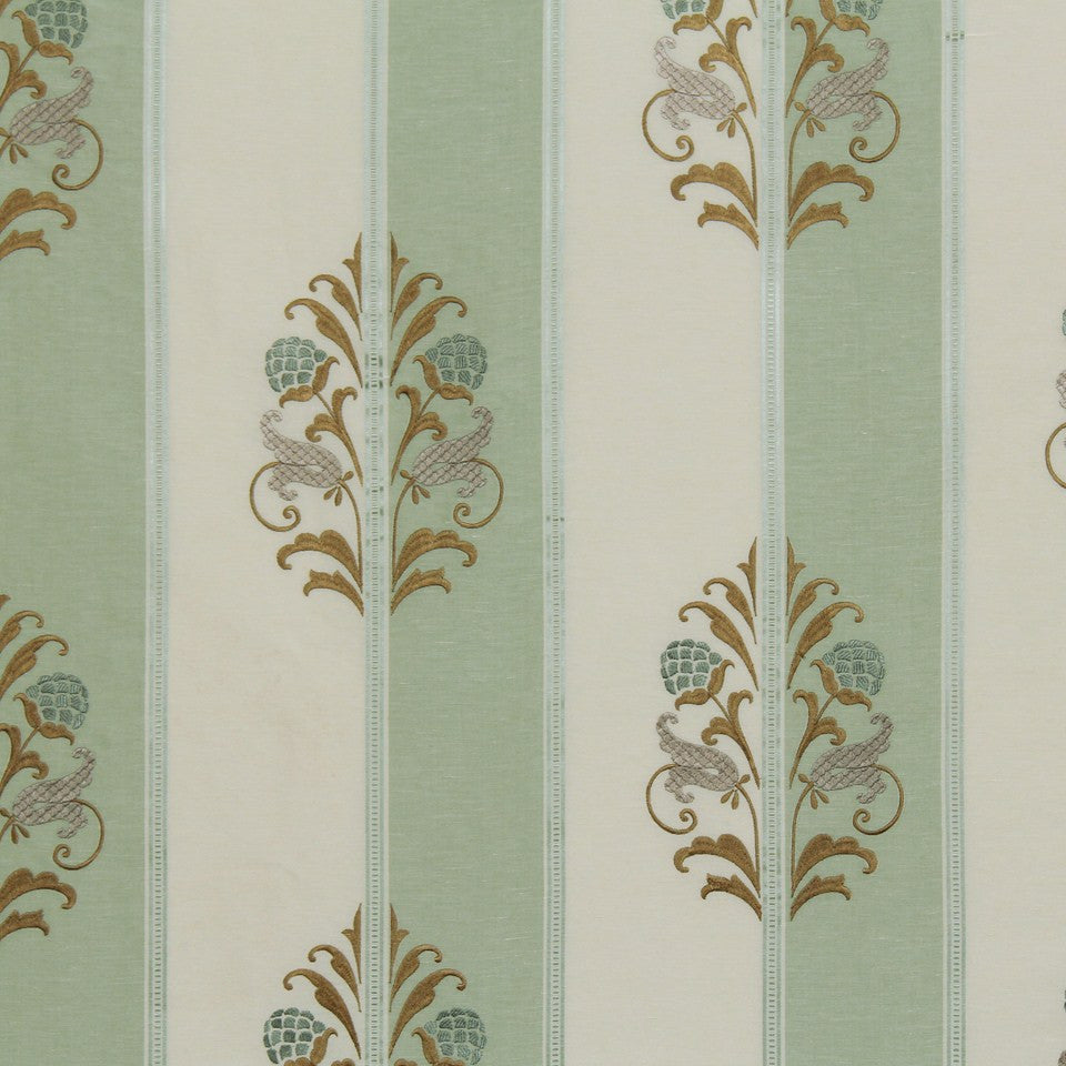 EMBELLISHED NATURALS COOL Cabot Park Fabric - Seaglass