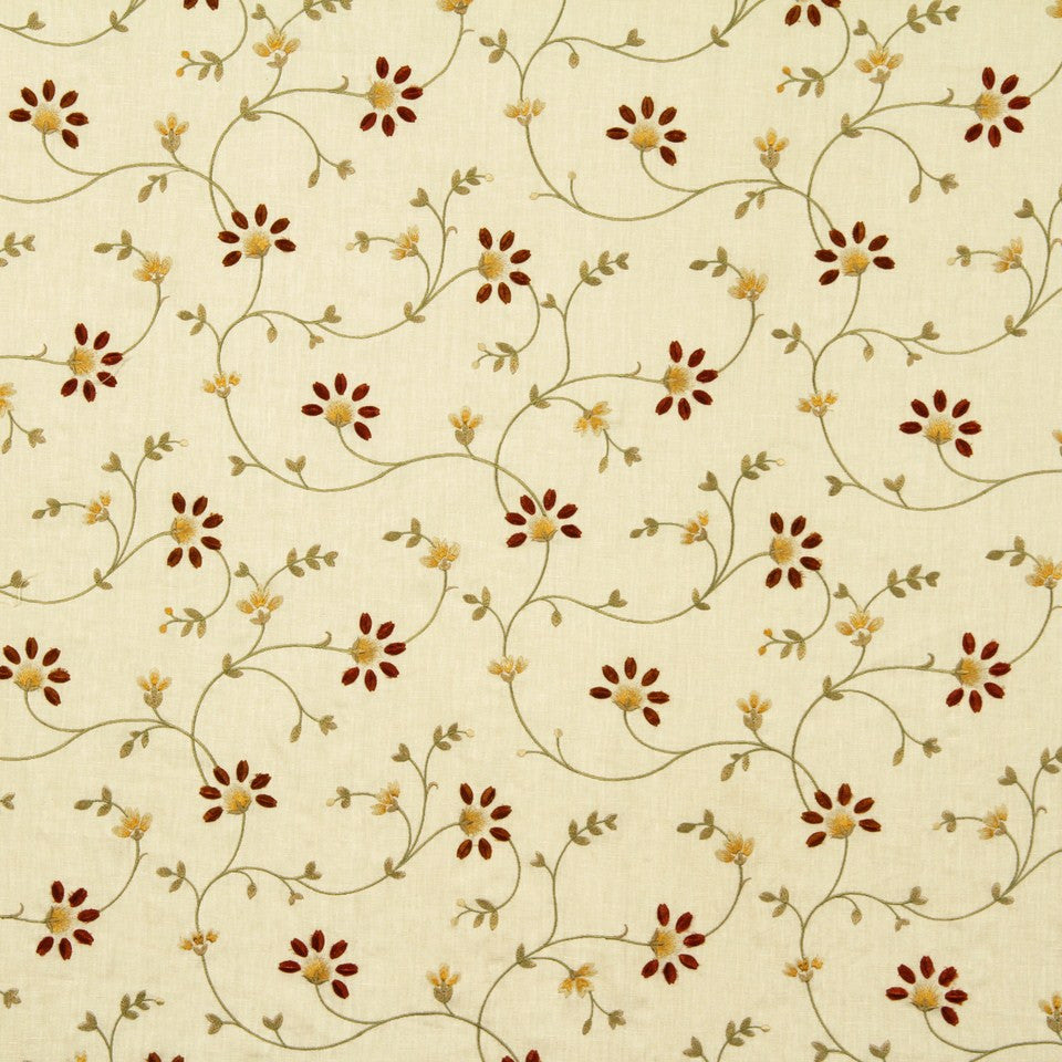 EMBELLISHED NATURALS WARM Galway Bay Fabric - Sundance