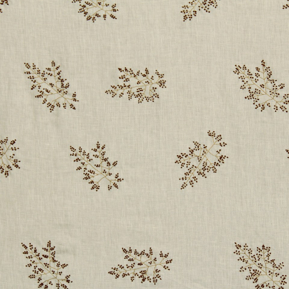 EMBELLISHED NATURALS WARM Hand Knotted Fabric - Cocoa