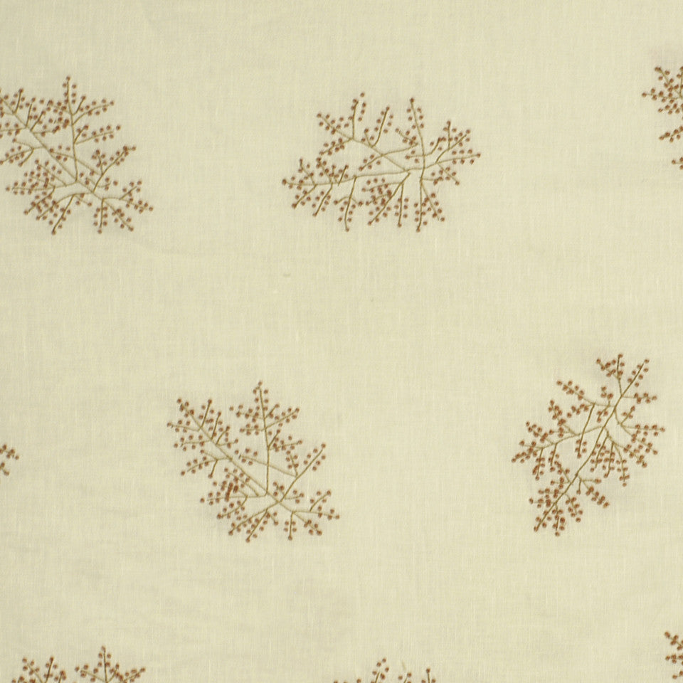 EMBELLISHED NATURALS WARM Hand Knotted Fabric - Amber