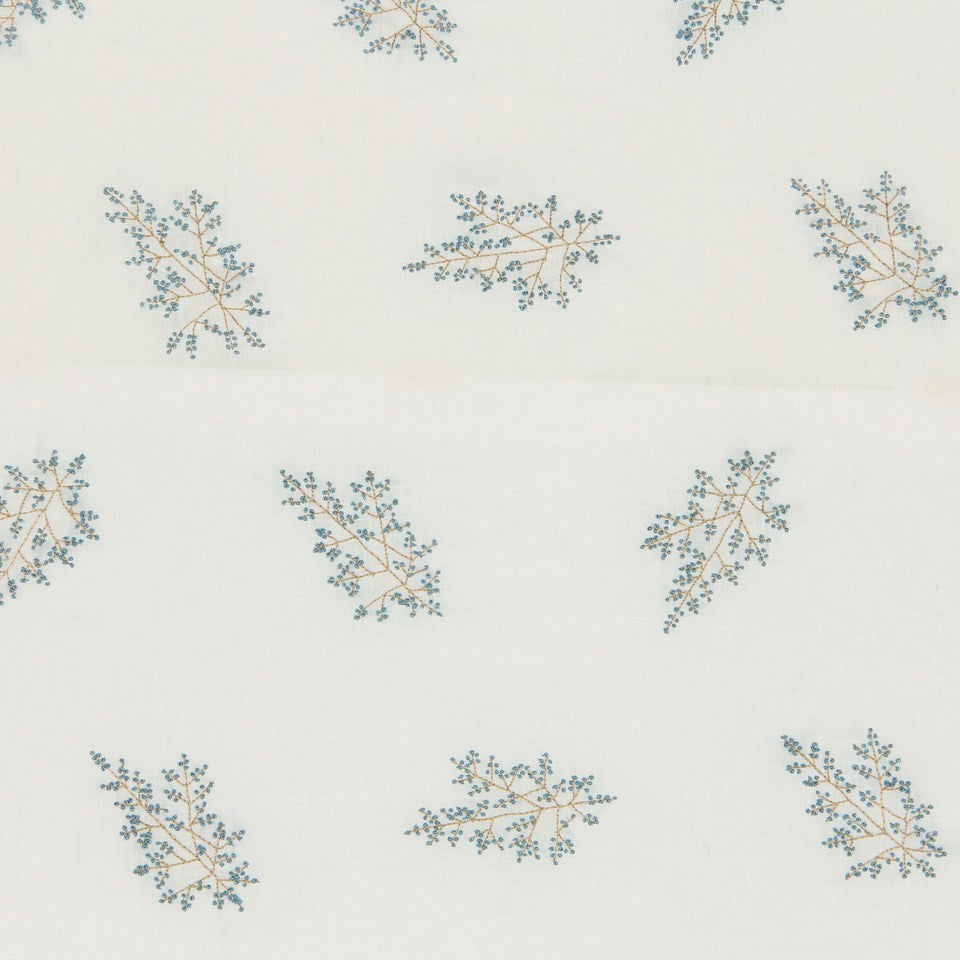 EMBELLISHED NATURALS COOL Hand Knotted Fabric - Sky
