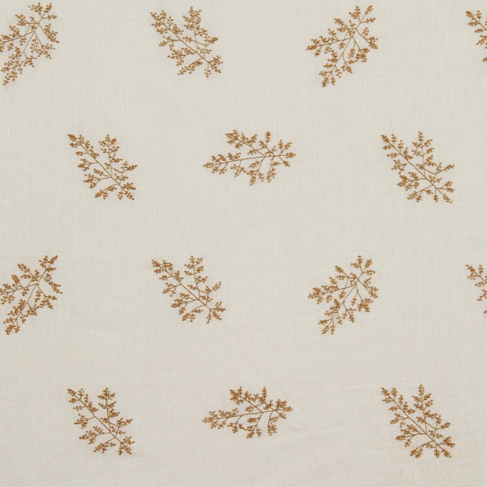 EMBELLISHED NATURALS WARM Hand Knotted Fabric - Oat