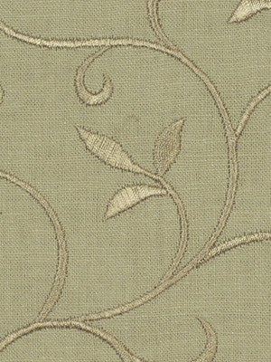 EMBELLISHED NATURALS COOL Sally Gardens Fabric - Barley