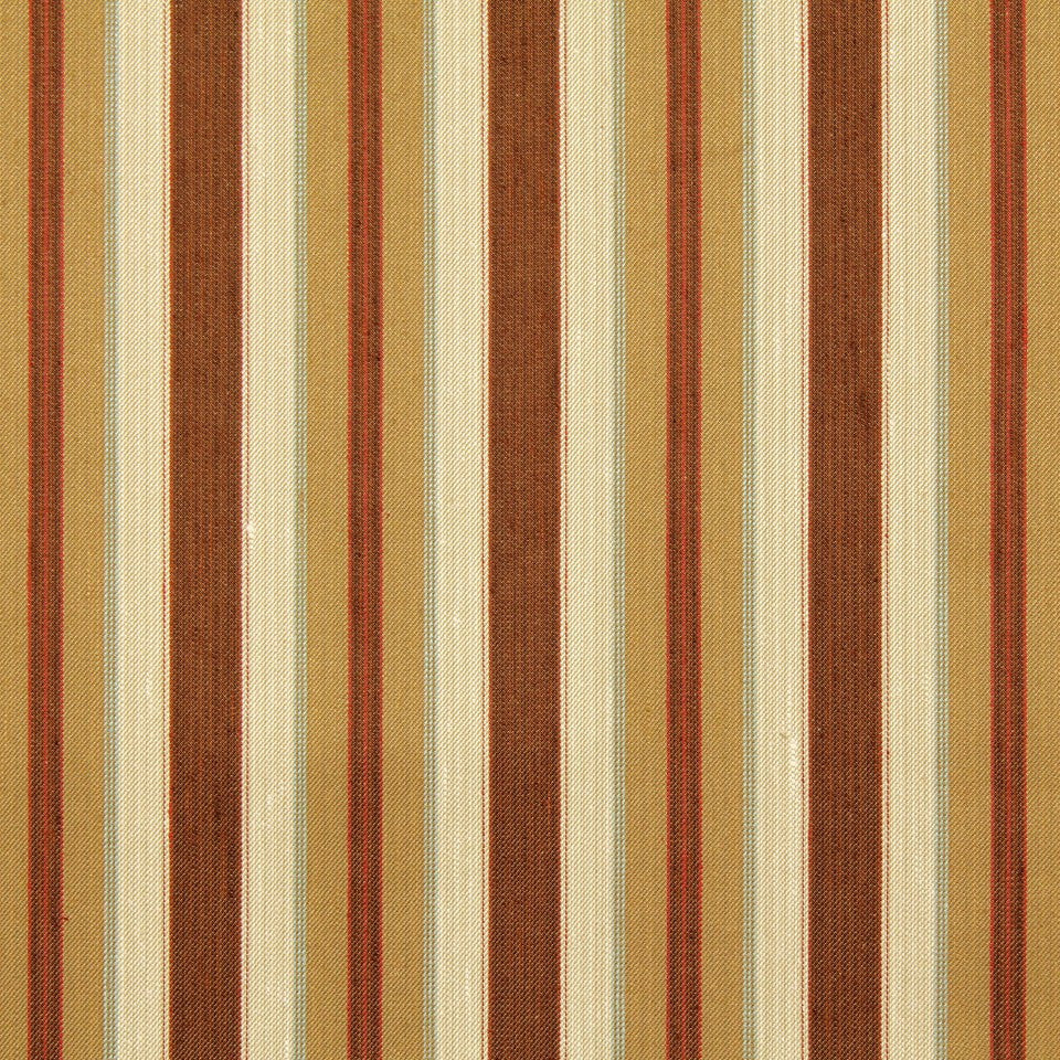 EMBER-TOFFEE-INK Maxton Stripe Fabric - Toffee