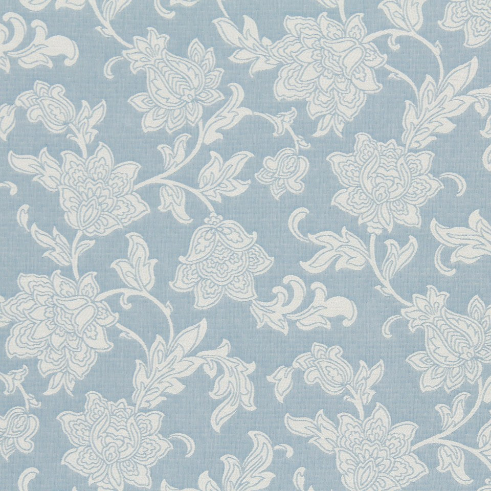 EMBELLISHED NATURALS COOL Rathcormac Fabric - Bluebell