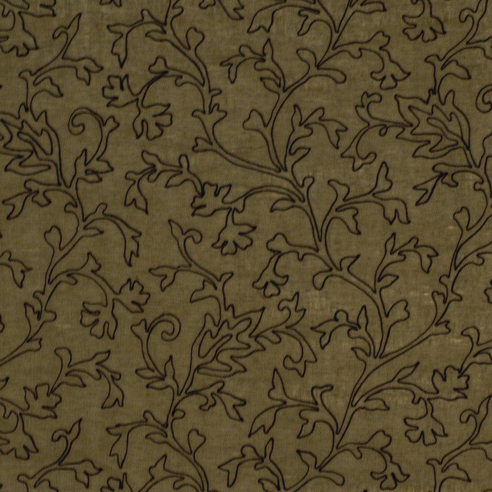 NATURAL SHEERS DARK NEUTRALS Makers Mark Fabric - Chocolate