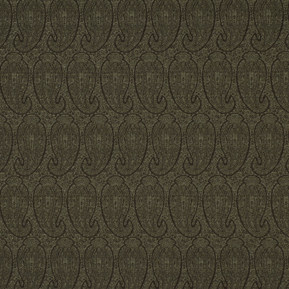 CORPORATE BINDER: PERFORMANCE/FINISHES DECORATIVE/UPH SOLIDS AND TEXTURES/ECO I Eco Paisley Fabric - Nightshade