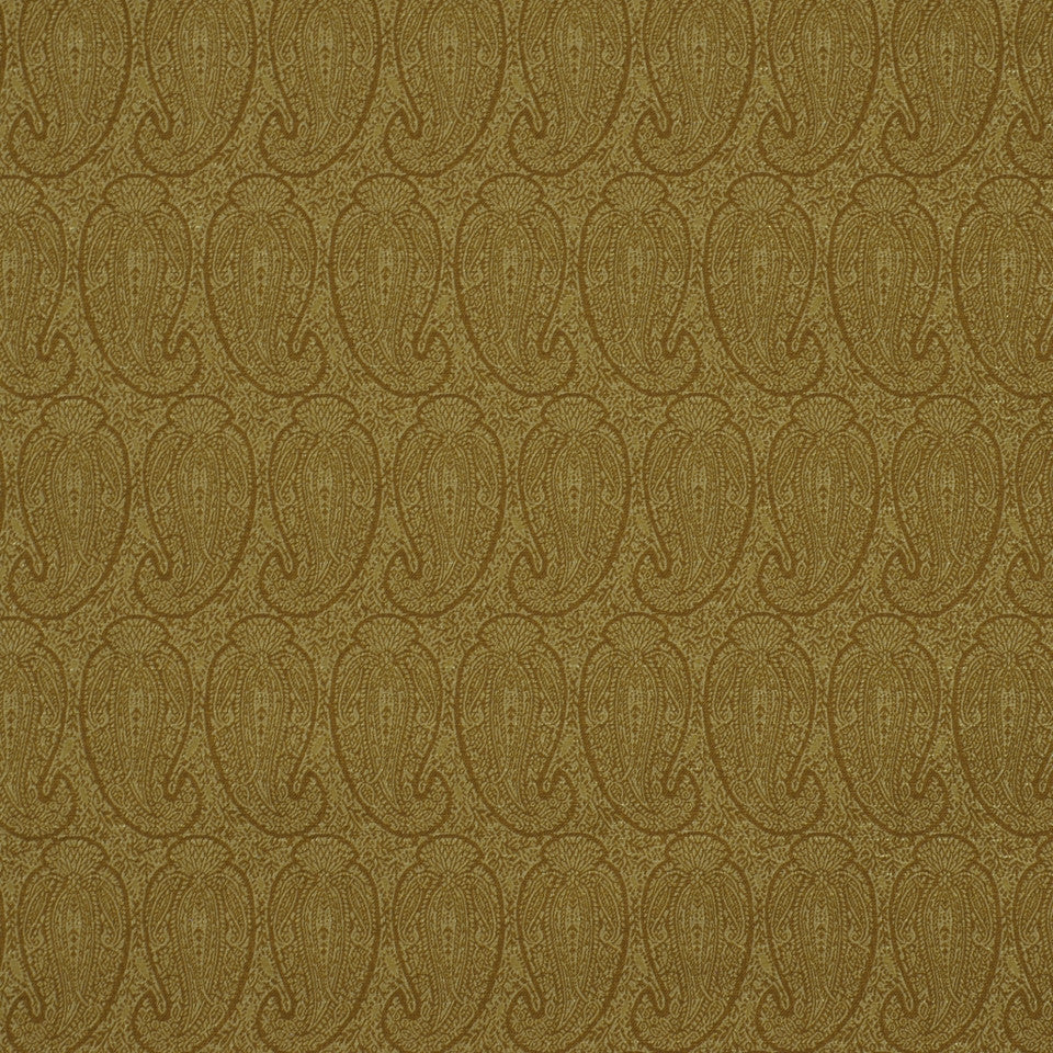 CORPORATE BINDER: PERFORMANCE/FINISHES DECORATIVE/UPH SOLIDS AND TEXTURES/ECO I Eco Paisley Fabric - Wheat Field