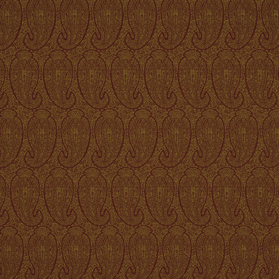 CORPORATE BINDER: PERFORMANCE/FINISHES DECORATIVE/UPH SOLIDS AND TEXTURES/ECO I Eco Paisley Fabric - Persimmon