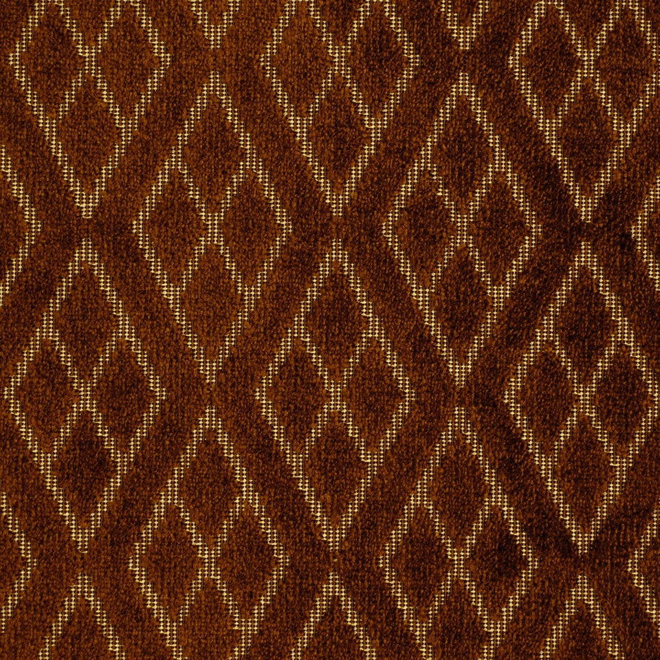 PRUSSIAN-LAGOON-COPPER Magnanimous Fabric - Bronze