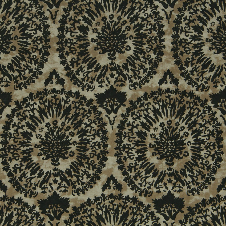 ETHNIC CHIC Sheeva Flock Fabric - Kohl