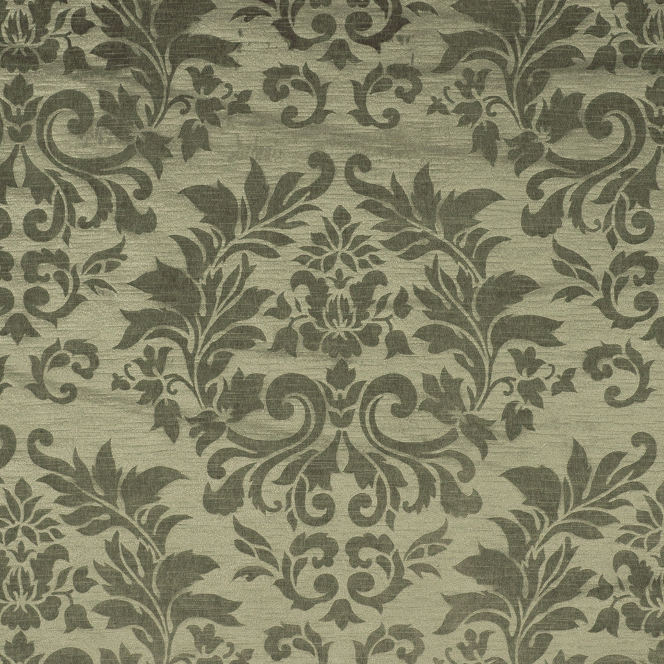 PRUSSIAN-LAGOON-COPPER Grace Of Heart Fabric - Pistachio