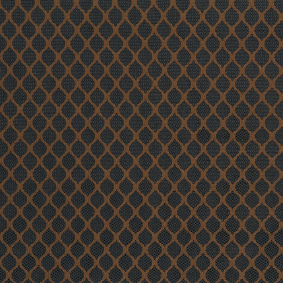 PRUSSIAN Modern Links Fabric - Prussian