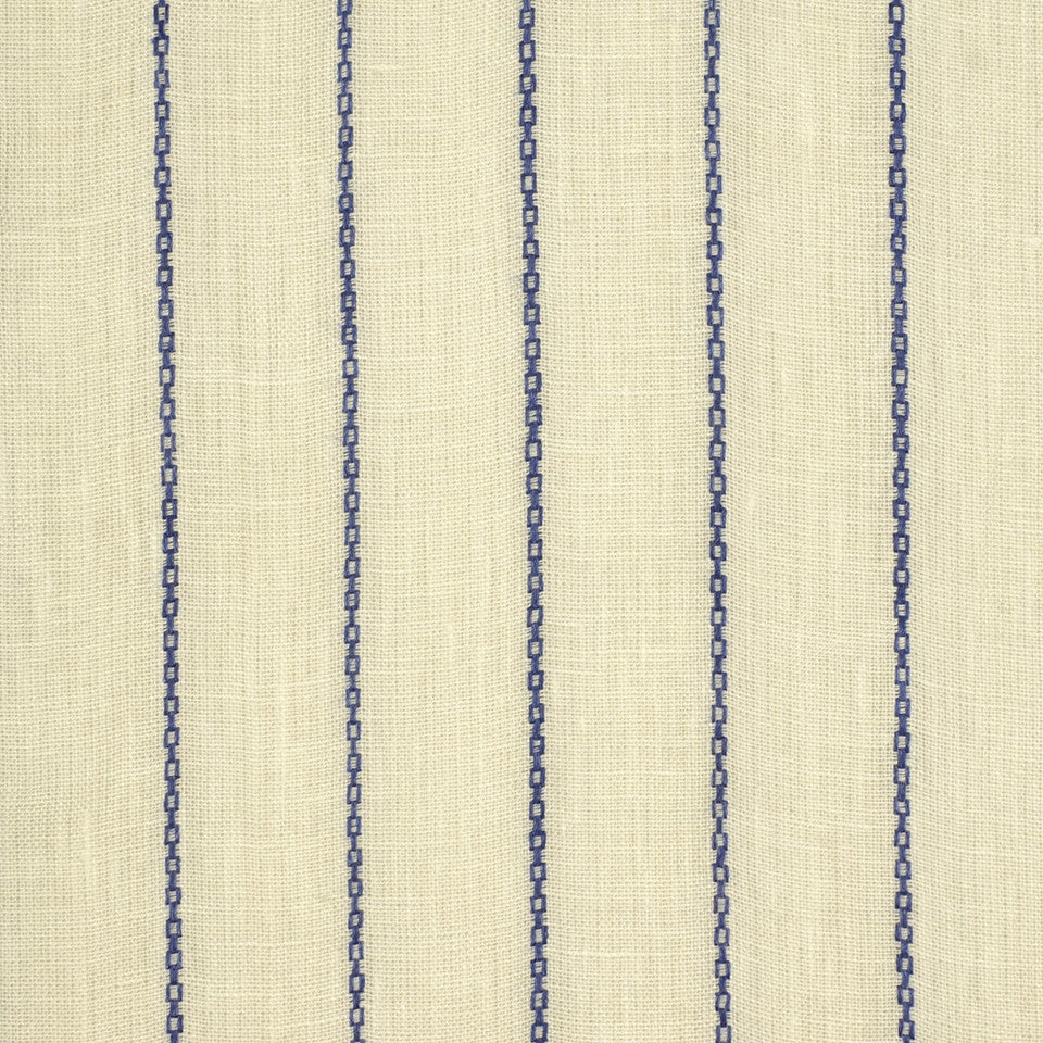 COLONIAL-BLUEBELL-PRUSSIAN Tiny Chains Fabric - Colonial