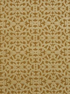 ETHNIC CHIC Tuscan Scroll Fabric - Oro