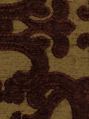 RHUBARB-PUMICE-BLUE OPAL Tuscan Scroll Fabric - Cayenne