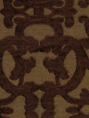 ETHNIC CHIC Tuscan Scroll Fabric - Mocha