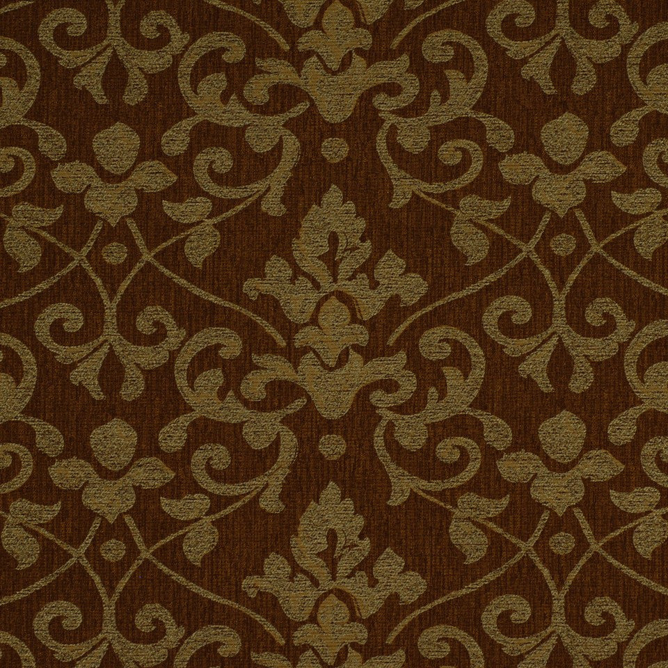 ETHNIC CHIC Lisbon Damask Fabric - Haze