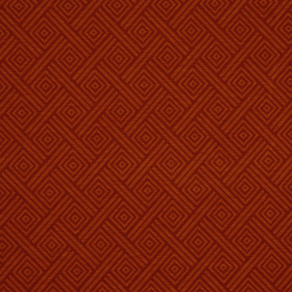 CORPORATE BINDER: PERFORMANCE/FINISHES DECORATIVE/UPH SOLIDS AND TEXTURES/ECO I Tribal Chance Fabric - Vintage Red