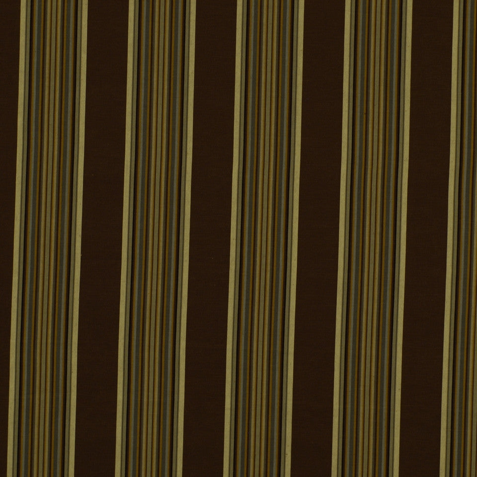 PEWTER-TOURMALINE-BLUEBELL Villa Stripe Fabric - Spa