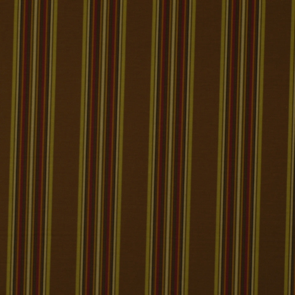 ETHNIC CHIC Villa Stripe Fabric - Chocolate