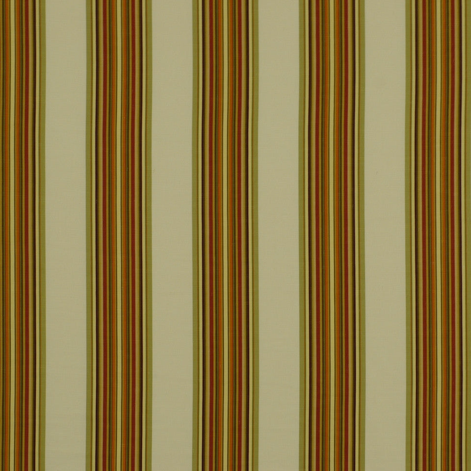 SUNSET-HENNA-BERRY Villa Stripe Fabric - Marigold