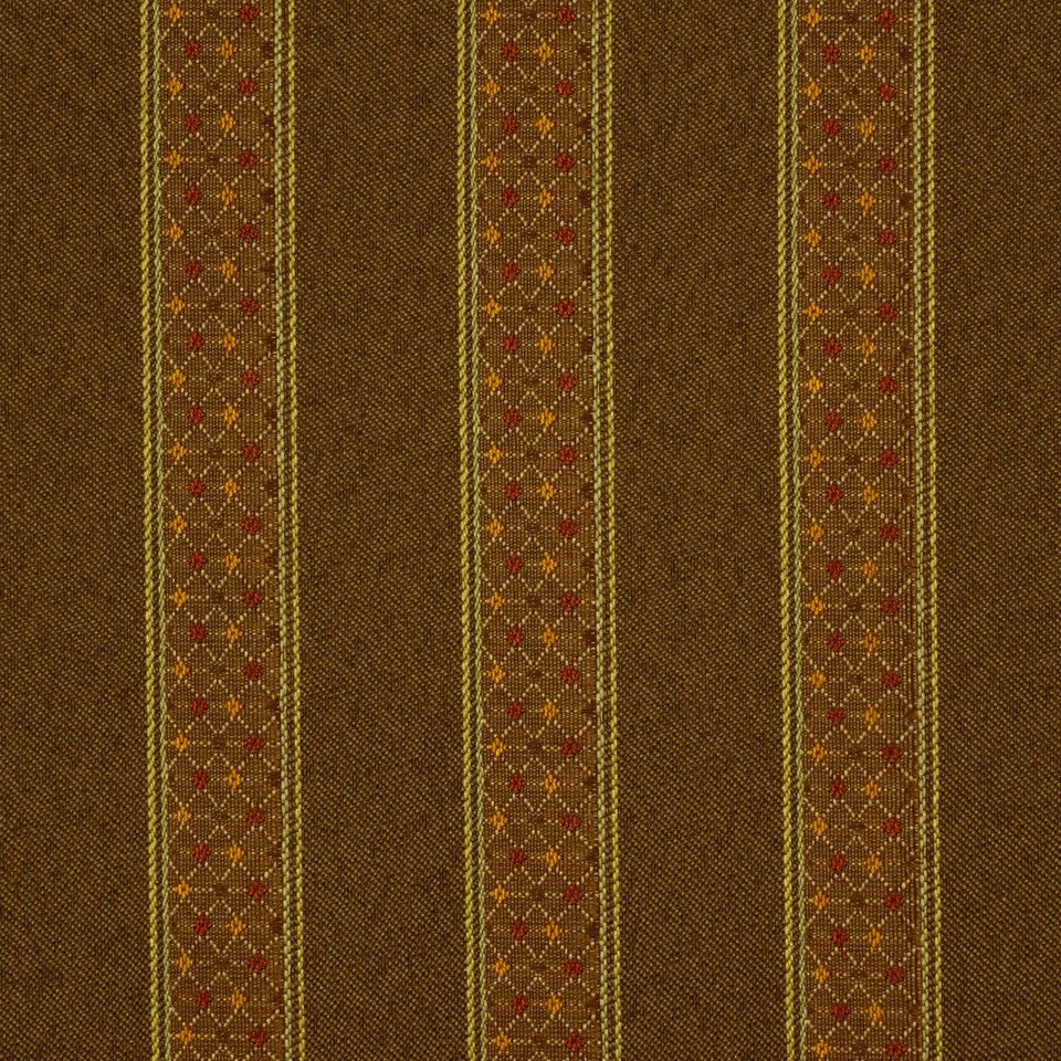 CORPORATE BINDER: PERFORMANCE/FINISHES DECORATIVE/UPH SOLIDS AND TEXTURES/ECO I Blake Stripe Fabric - Marsh