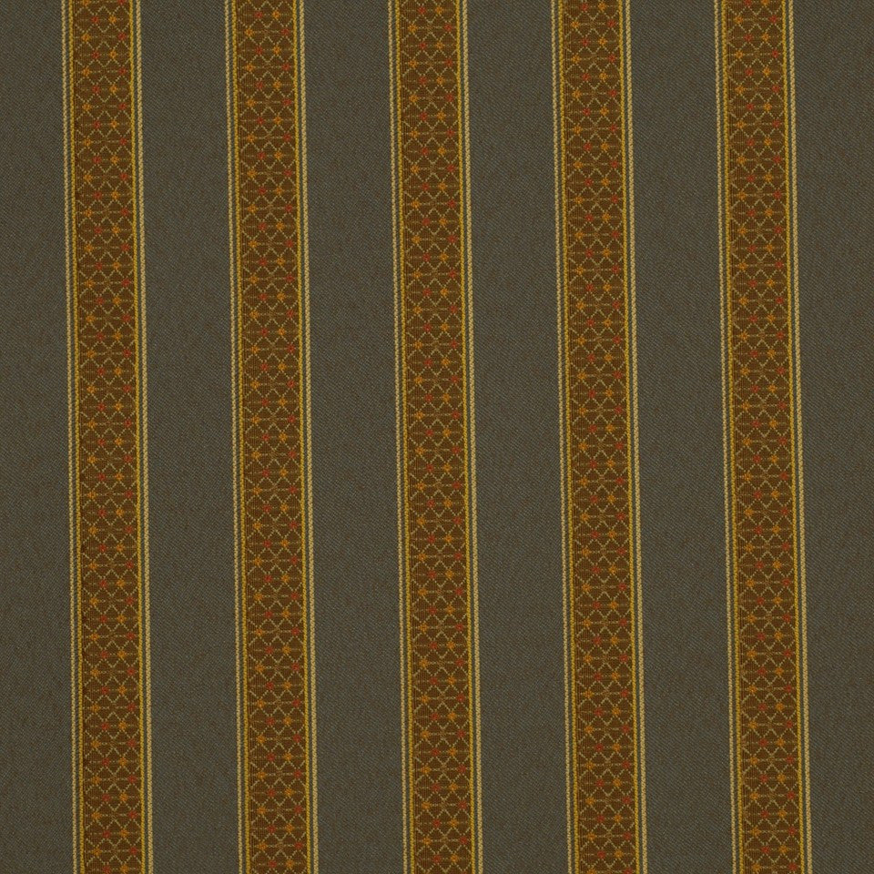 CORPORATE BINDER: PERFORMANCE/FINISHES DECORATIVE/UPH SOLIDS AND TEXTURES/ECO I Blake Stripe Fabric - Rain