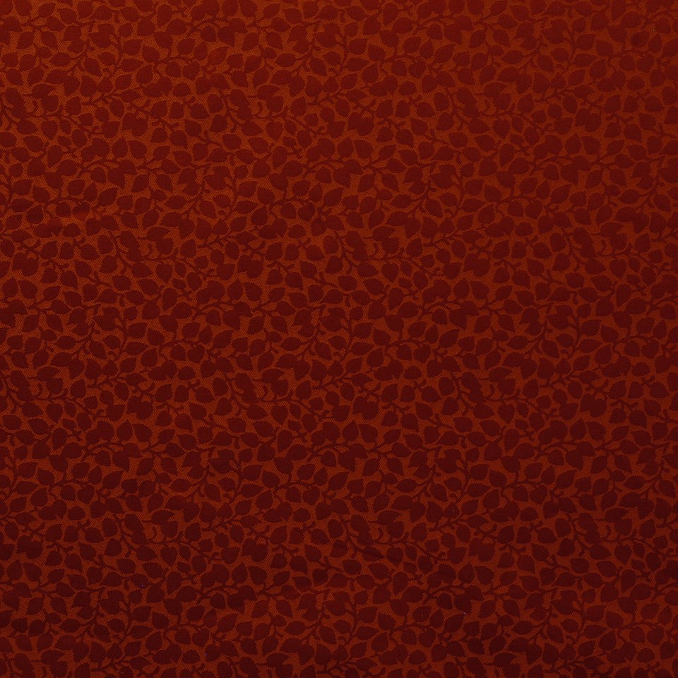 CORPORATE BINDER: PERFORMANCE/FINISHES DECORATIVE/UPH SOLIDS AND TEXTURES/ECO I Shadow Leaf Fabric - Vintage Red