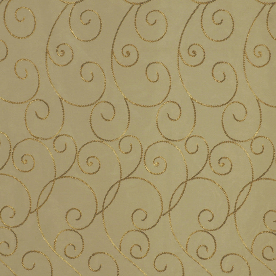 DESIGN ELEMENTS Bullion Trail Fabric - Bronze