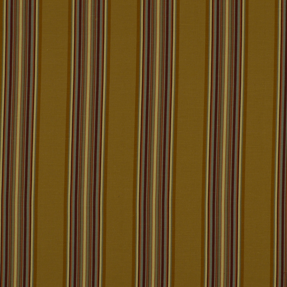 Villa Stripe Fabric - Chutney