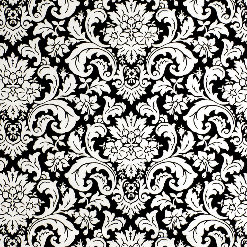 MOSIACS INDOOR/OUTDOOR Flowering Buds Fabric - Caviar