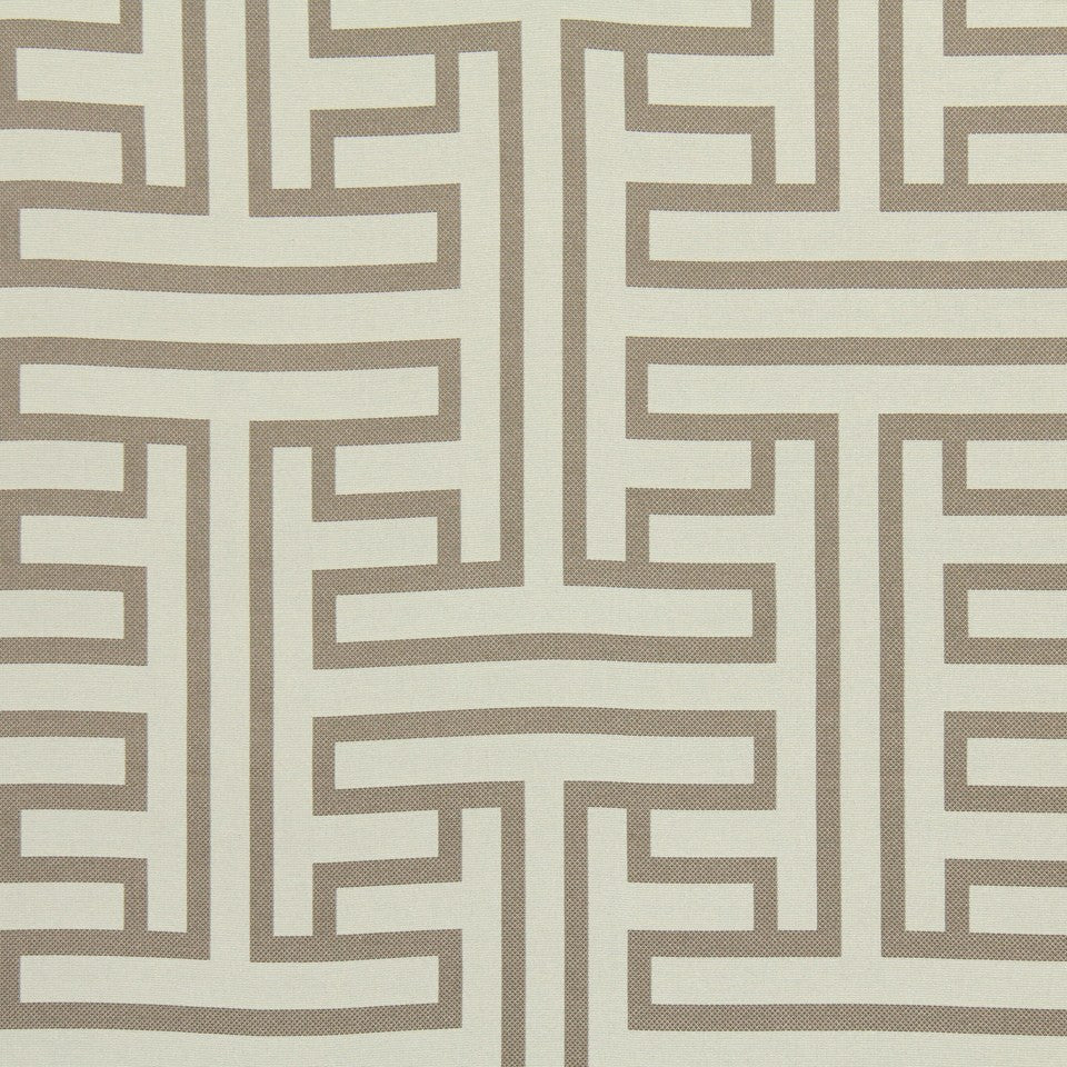 TWINE Ming Fret Fabric - Taupe