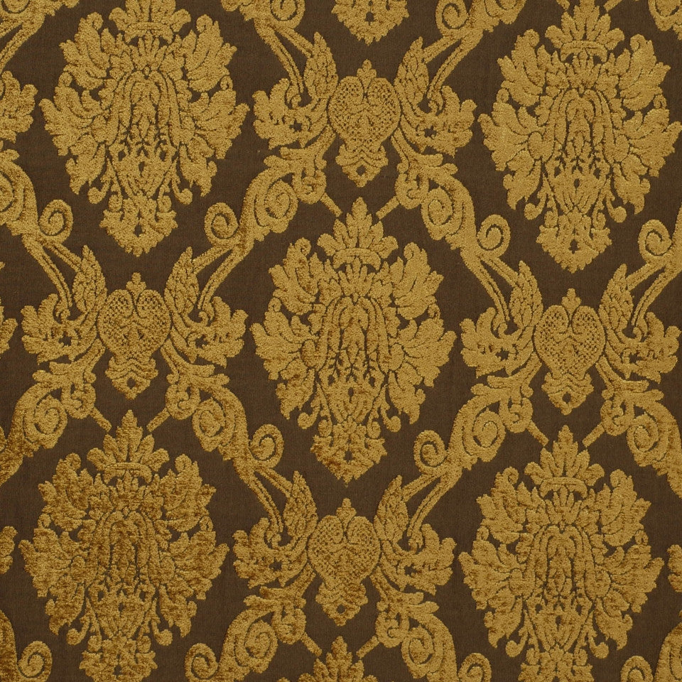 Royal Damask Fabric - Bark