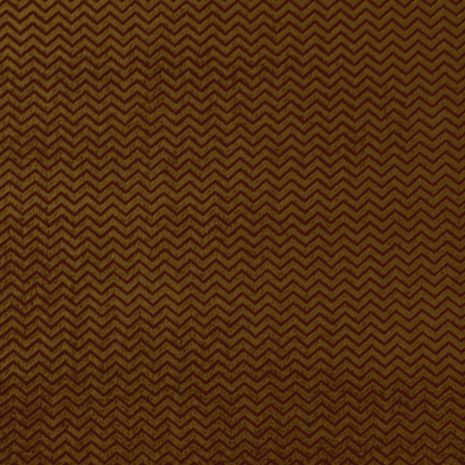 Royal Chevron Fabric - Henna