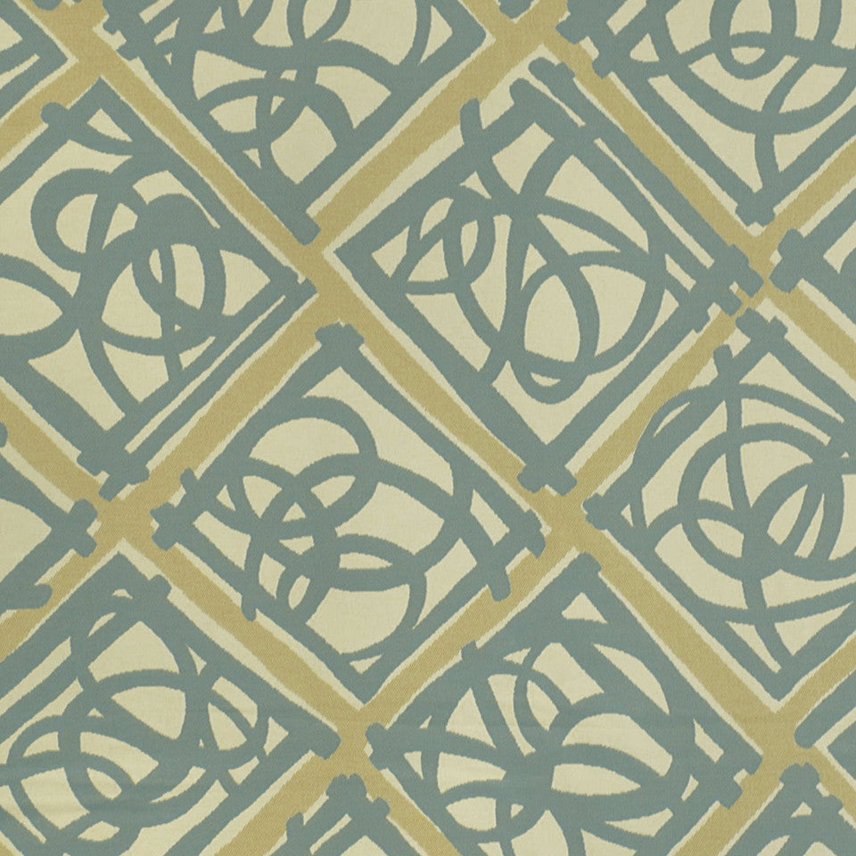 MOSIACS INDOOR/OUTDOOR Knots Fabric - Surf