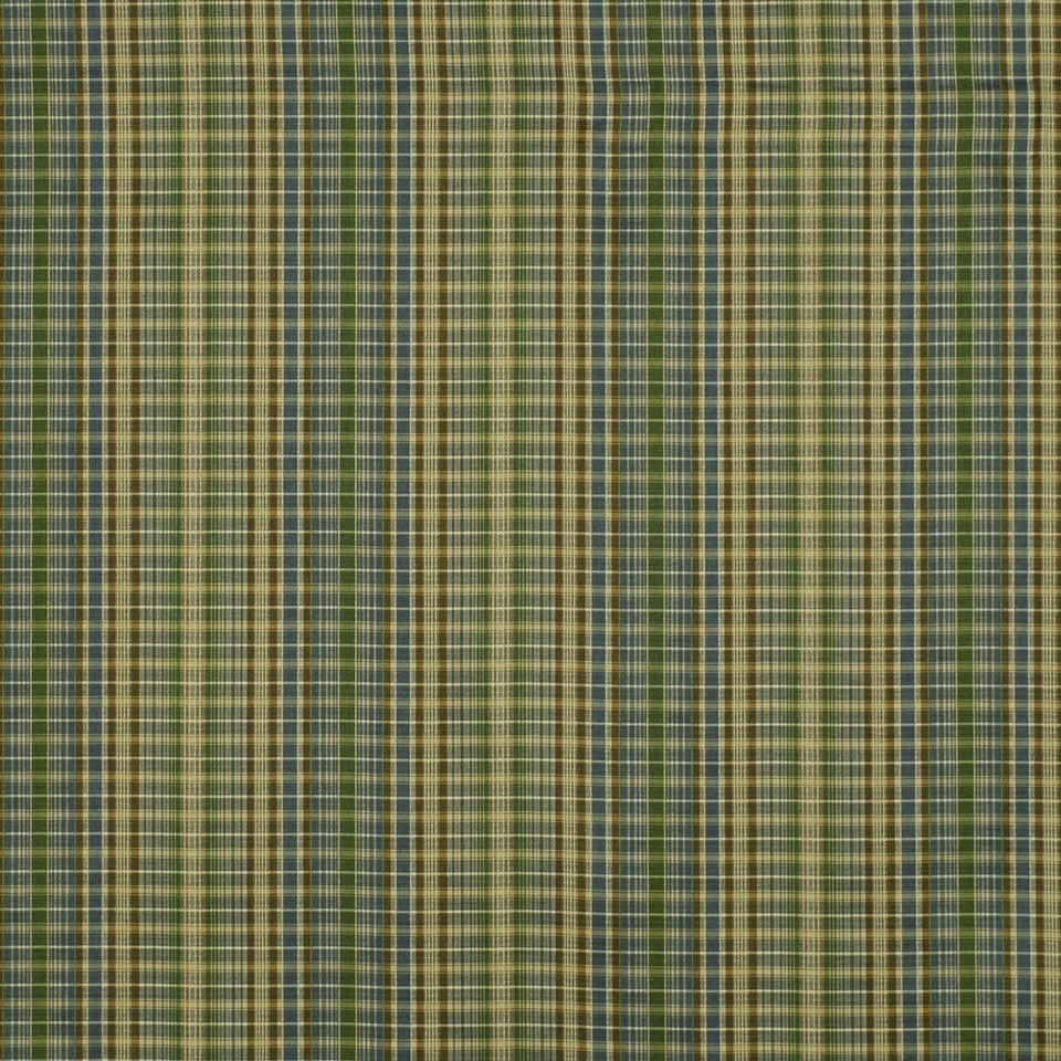 LEAF Tiny Plaid Fabric - Leaf