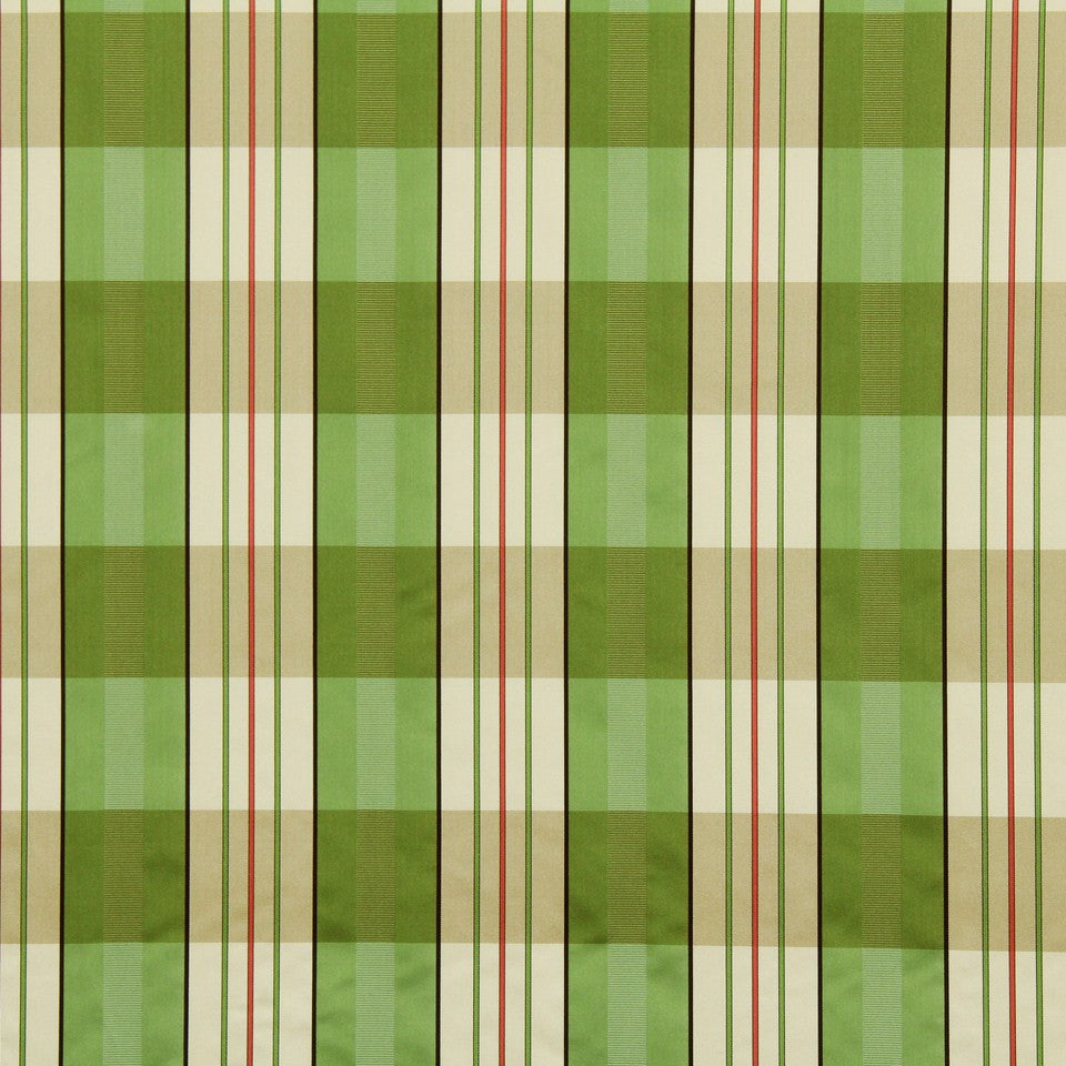 LEAF Sateen Stripe Fabric - Leaf