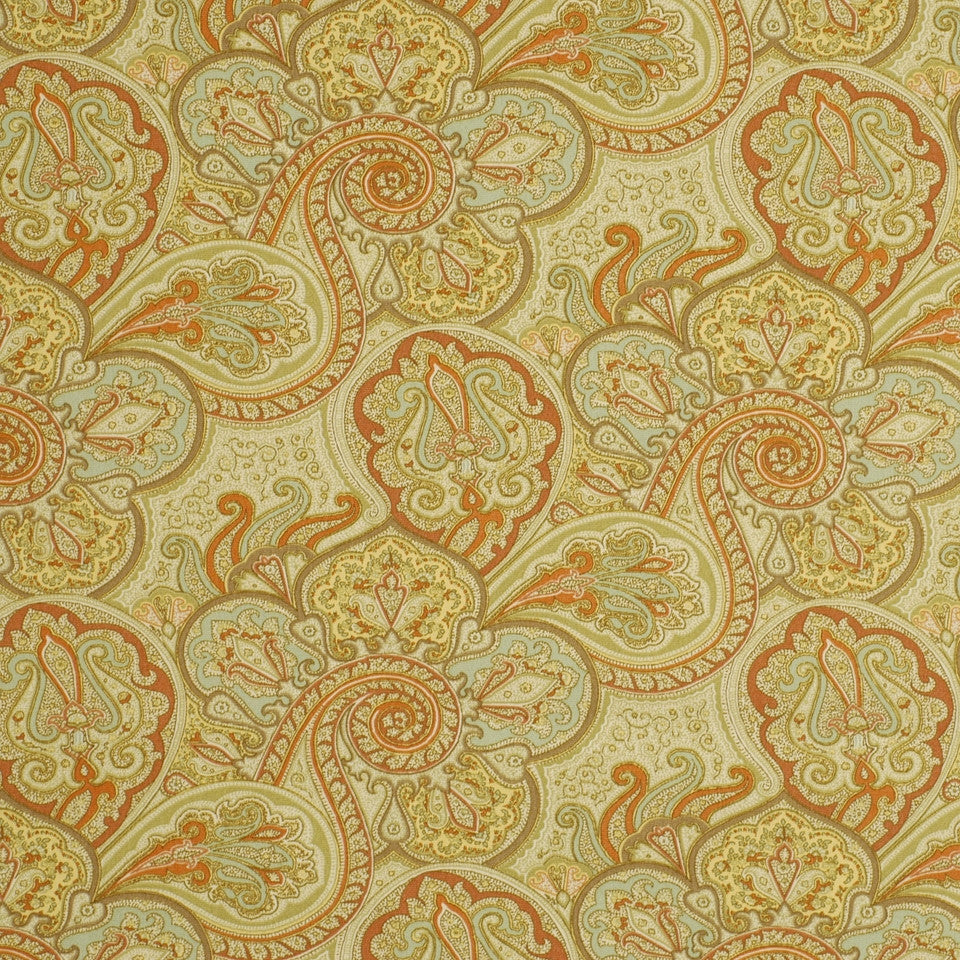 MOSIACS INDOOR/OUTDOOR Snappy Swirls Fabric - Sunset