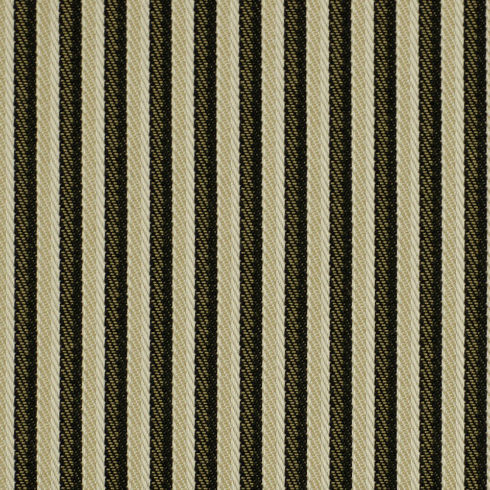 MOSIACS INDOOR/OUTDOOR Plain Stripe Fabric - Caviar