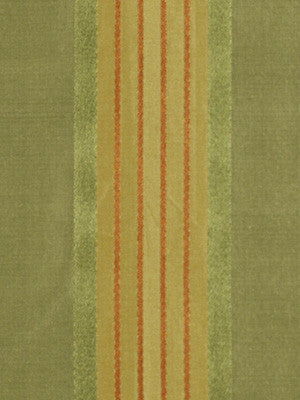 LEAF-LEEK-TARRAGON Aba Stripe Fabric - Leaf